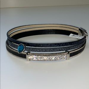 Jewelry - Faux leather wrap bracelet with magnetic clasp